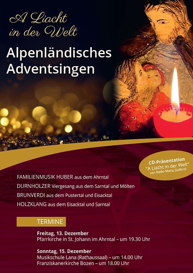 Plakat Adventsingen 2019